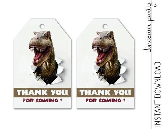 Dinosaur Favor Tag INSTANT DOWNLOAD