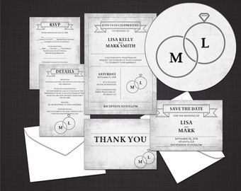 wedding invitations packages wedding invitations packages etsy 9763