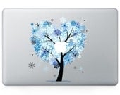 Macbook 13 inch decal sticker magic blue apple tree art for Apple Laptop