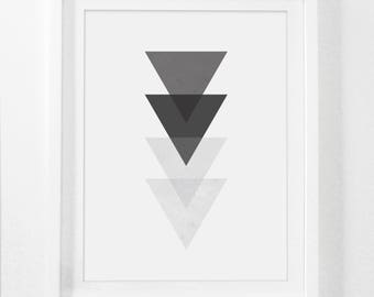 Black and White Wall Art, Printable Geometric, Geometric Wall Art, Black and White Modern, Modern Wall Art, Minimalist Wall Prints
