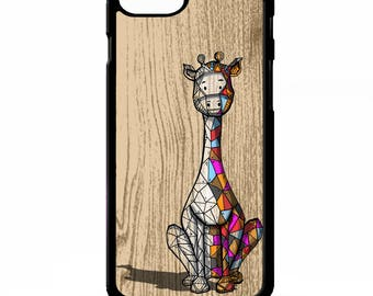Giraffe shape animal geometric line pattern graphic colourful hipster print cover for Samsung Galaxy S5 S6 s7 edge plus note 4 5 phone case