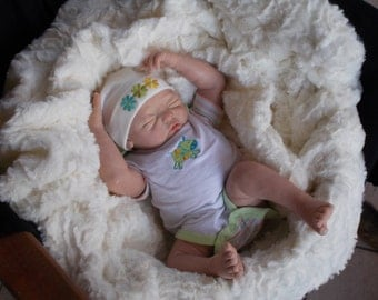 Baby Girl, Doll OoaK, newborn, polymer clay, 46 cm