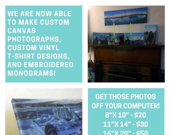 Custom Canvas Photograph