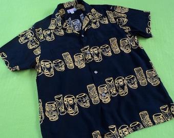 1950s Rockabilly Tiki Reproduction Shirt Dry Bones (Japan) LARGE