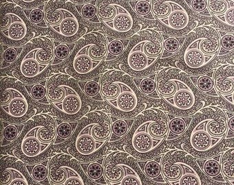 Downton Abbey fabric Kathy Hall Women Collection Dowager Countess Floral 7320 Mauve Purple black cream sew quilt craft cotton by the yard
