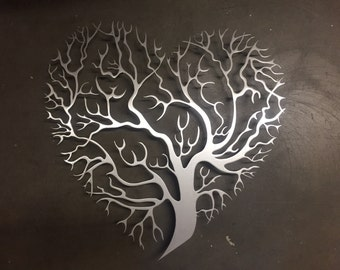 Tree Heart Metal Wall Art - Tree Metal Wall Art - Unique Wall Decor - Tree Art - Metal Art - Metal Wall Decor - Wall Art - Tree of Life