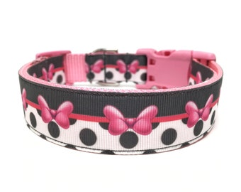 Disney Bow Dog Collar Adjustable