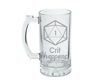 Crit Happens D20 - Gamer Gift - Tabletop Gaming Gift - Game Master GM - Dungeon Master GM - Critical Roll - Critical Role