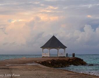 Ocean Gazebo at Sunset  Fine Art Photography Print 8 x 10