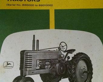 John Deere vintage 1960s manual for B series tractors Vintage farming farm