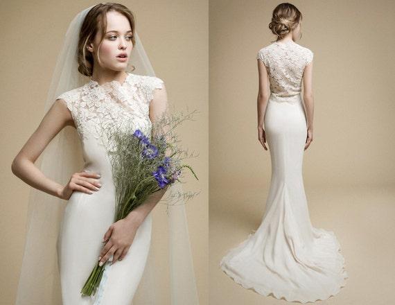 ANDERA / Mermaid Wedding Dress 2017 Peach Wedding Gown With