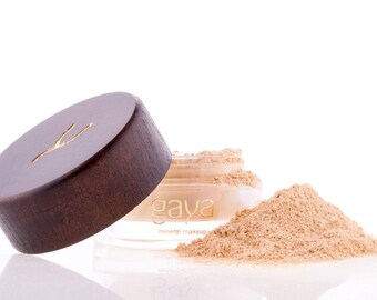 Mineral Foundation (MF1 Shade) Vegan Makeup Powder, Unique 4 IN 1, 100% Natural Multipurpose Full Coverage For All Skin Types