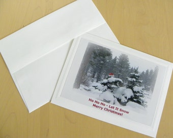 CHRISTMAS Greeting Card Set - 12, blank inside, Cards with Envelopes AND Free Shipping too!