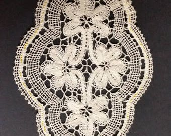 oval lace doily