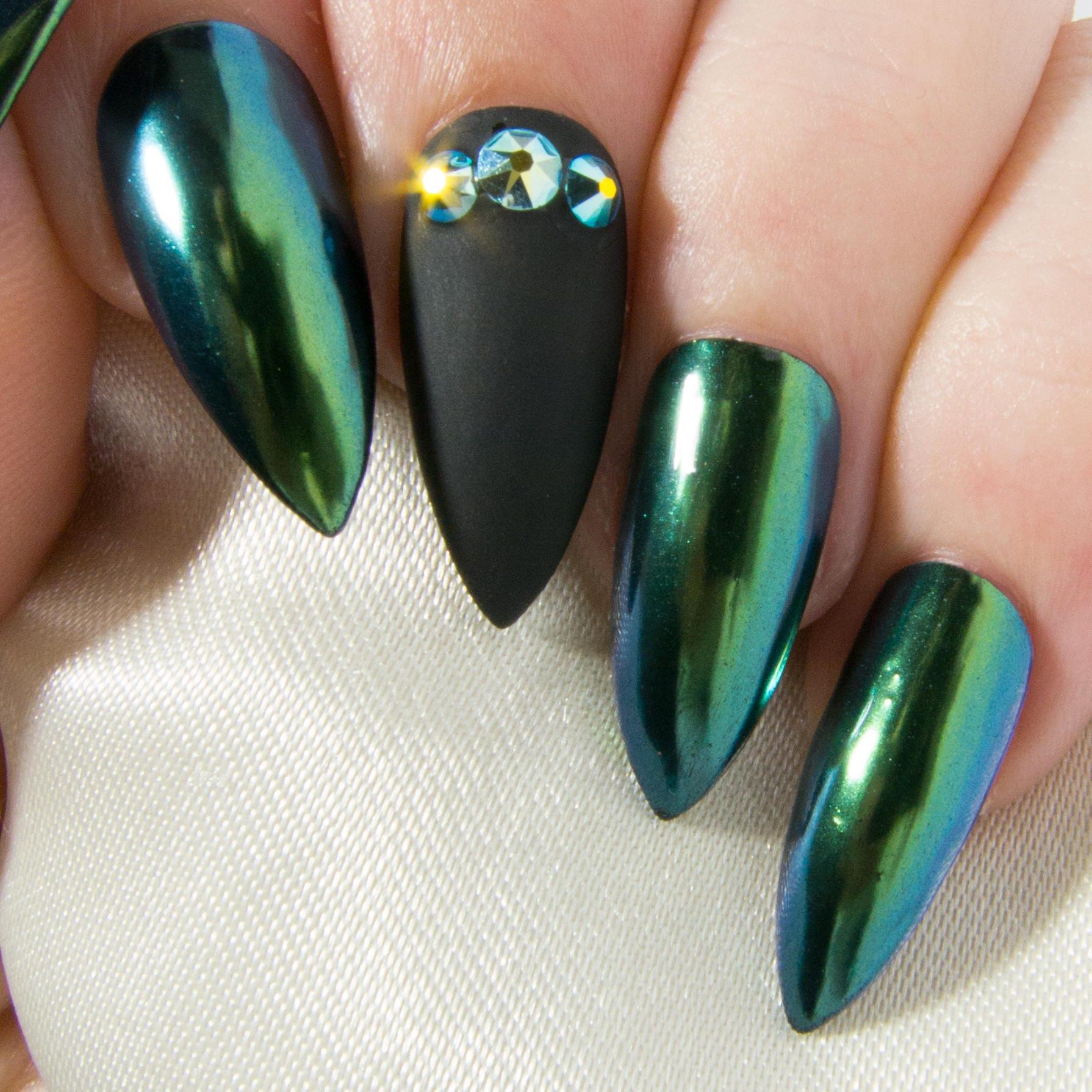 Crystal Chrome Nails