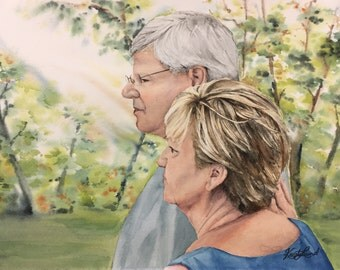 Custom Watercolor Painting - Portraits