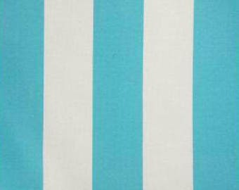 """OUTDOOR 1 Pair Flat Rod Pocket or Grommet Curtain Panels in Richloom Solarium Indoor/Outdoor Cabana Vertical Stripes 50""""W x Selected Length"""