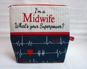 Calling all Nurses, First Aid, Cosmetik Bag, Midwife