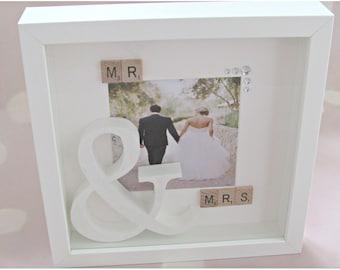 wedding memory box etsy - Mr And Mrs Photo Frame