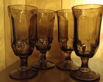 Set of 4 Chocolate Colored Goblets or Glasses if you prefer