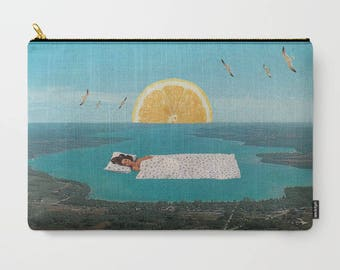 Zipper pouch - Makeup bag large - Travel bag
