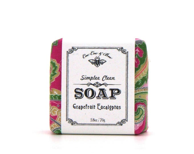 Grapefruit Eucalyptus Soap, Simplee Cleen Soap 2.8oz. / vegan soap / palm free soap