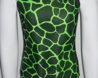 GIRLS GYMNASTICS LEOTARDS ( green giraffe)