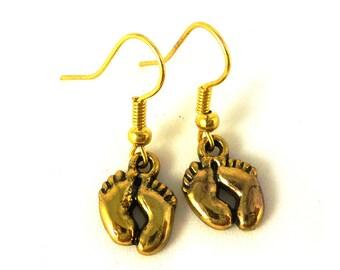 Baby feet earrings