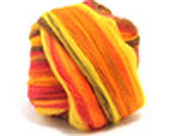 Merino Wool Roving / Combed Top / Wool Braid in Blaze - 4 ounces