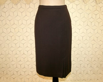 Brown Skirt Women Small Wool Skirt Midi Pencil Skirt Fall Winter Brown Wool Skirt Straight Skirt Doncaster Vintage Clothing Womens Clothing