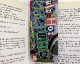Hip Hop Culture Bookmark/Handcrafted with the art of collage/Original Collage/Ideal gift for a hip hop fan/BUY two, pick one more for FREE!