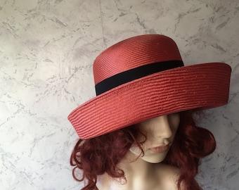 Kangol Beautiful Authentic Vintage Burnt Orange Bow Hat SZ  M/L
