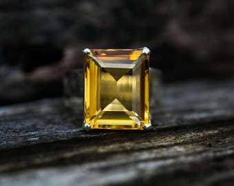 Citrine Ring - Citrine Ring - Citrine  Ring size 9 - november birthstone - Citrine Ring - beautiful citrine sterling silver