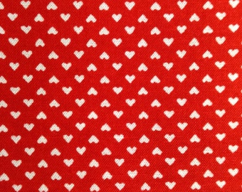 One Half Yard of Fabric Material - Mini Hearts Red