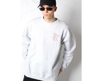 Vintage 90s Grey Embroidered Sweatshirt 37_50317_M