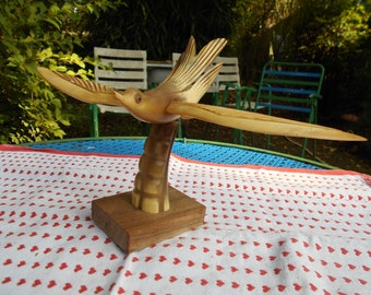 Bird in real horn from the years 70-80