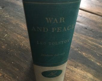 War And Peace by Count Leo Tolstoy / The Modern Library / Literary Classic