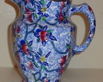 Ringtons Newcastle on Tyne Chintz Maling Ware Pitcher Made in England Free Standard Shipping in the U.S.