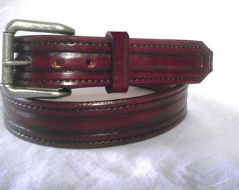 The Contour custom leather belt 1-1/2 inch. Made in U.S.A.