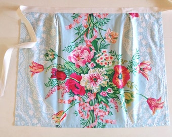 Floral Cotton Apron / Women's Apron / Kitchen / Hostess