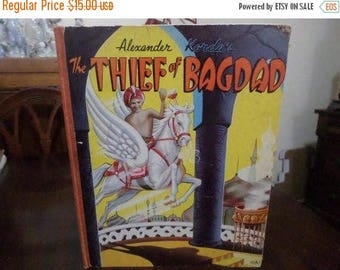 Save 25% Now Vintage 1940 Illustrated Children's Book The Theif of Bagdad Alexander Korda Very Good Condition