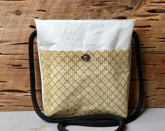 Recycled Sail Crossbody Purse with Black