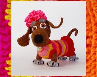 Amigurumi Pattern. Crochet Tabby Lady-dog. Positive Toy. DIY