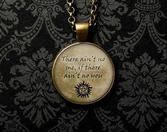 Supernatural Necklace, Supernatural Keychain, Supernatural Jewelry, Supernatural TV Show, Supernatural Fan, Supernatural Show