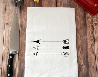 Arrow Flour Sack Tea Towel