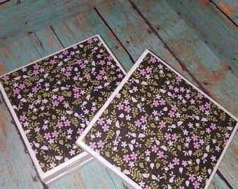 Pink and black floral coasters-Ceramic Tile Coasters - Coaster Set - Table Coasters  - Tile Coaster -  Coasters for Drinks