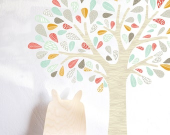 Wall Decal - Whimsical Tree  - WALL DECAL- Wall Sticker - Room Decor - Wall Decor