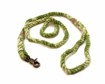 6 FT Earth Green Marbled Rope Dog Leash