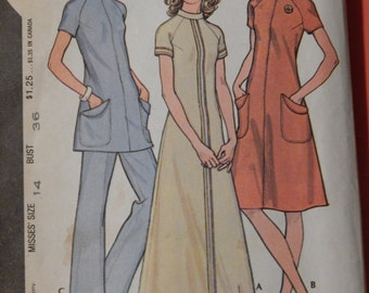"""McCall's 3160 Vintage dress or tunic and pants pattern """"Pounds Thinner"""" Size 14"""