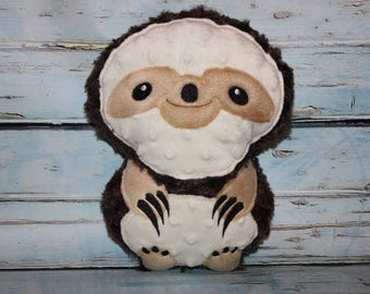 ITH Sloth Stuffie - 5 x 7, 6 x 10 and 8 x 12 included - In The Hoop - DIGITAL EMBROIDERY Design